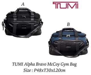 READY STOCK  Name      : TUMI Alpha Bravo McCoy Gym Bag Size         : P48xT30xL20cm Harga     : 1.750.000 Berat       : 1,76Kg Kualitas  : Sisa Produksi Pabrik Perlengkapan : Paperbag ( Selama Persediaan Masih Ada )