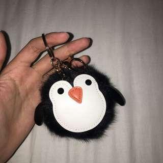 Forever 22 penguin Pom Pom keychain