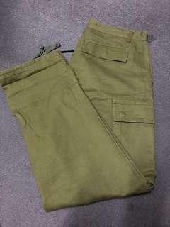 🚚 JKS 六袋大口袋軍綠工作褲