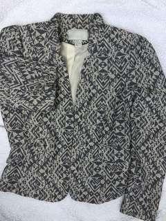 H&M printed blazer