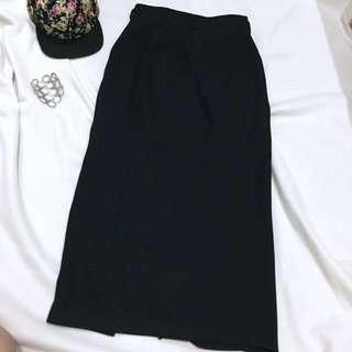 Basic Black Maxi Skirt