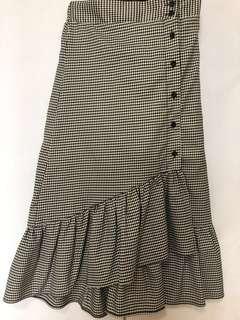 Mermaid Skirt (B&W checkered)