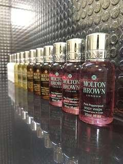 Travel Bath Set - Molten Brown London (Shampoo, Conditioner, Body Wash & Body Lotion)