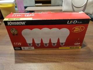 Lampu LED krisbow 11 watt