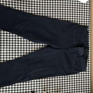 Blue trouser pants