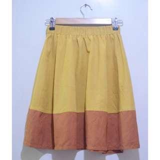 Two Tone Korean Skater Skirt