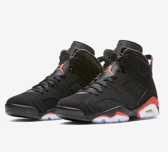 sale retailer 7daf6 8332d Air Jordan Retro 6 Retro Black Infrared , Men s Fashion, Footwear ...