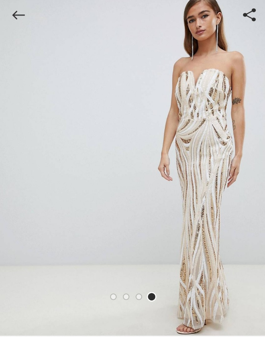 c1864f9a Asos Tfnc Lace Up Back Maxi Bridesmaid Dress