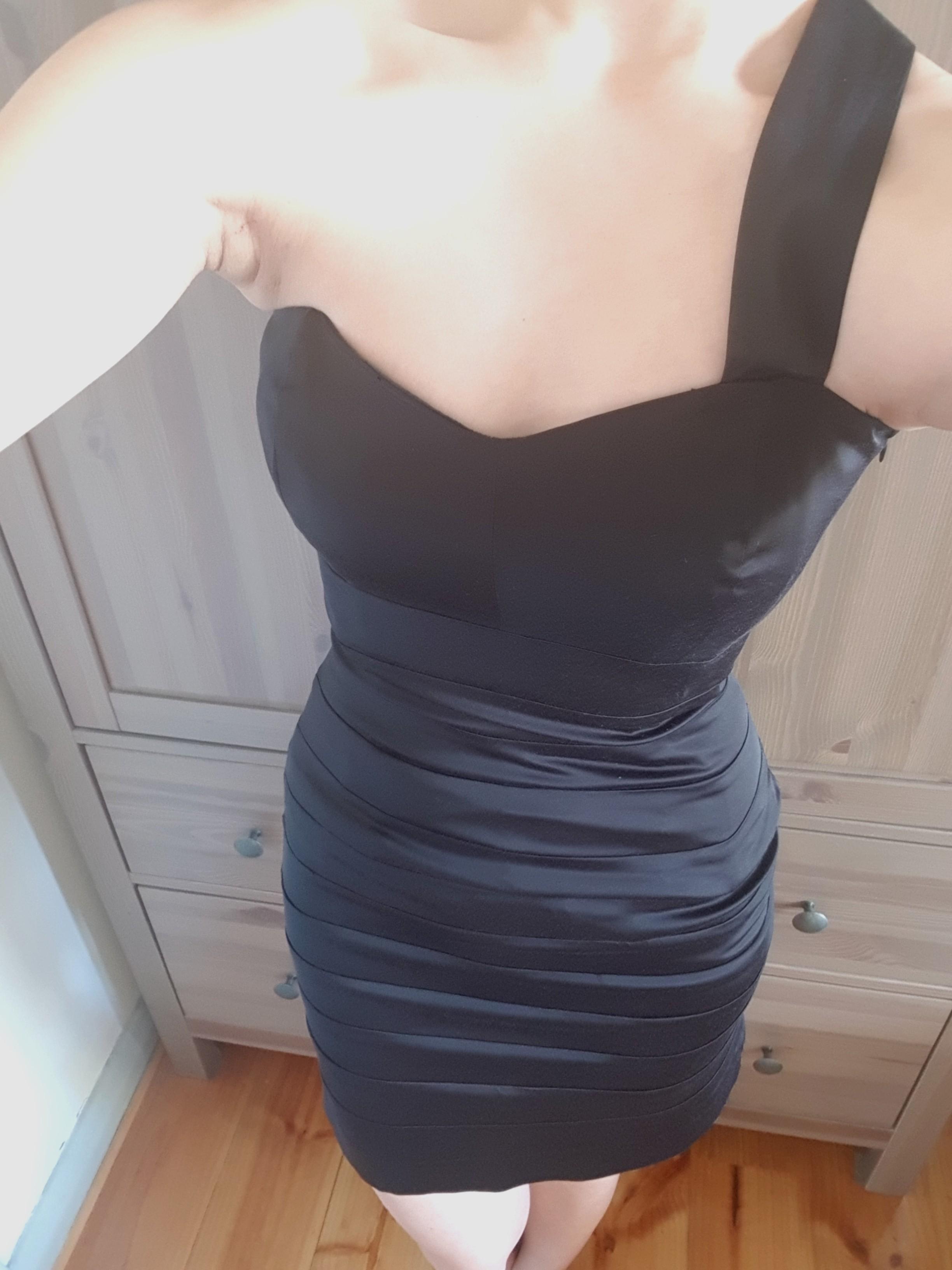 Black KOOKAI One Shoulder Party BANDAGE Cocktail Dress Size 6-8 XS