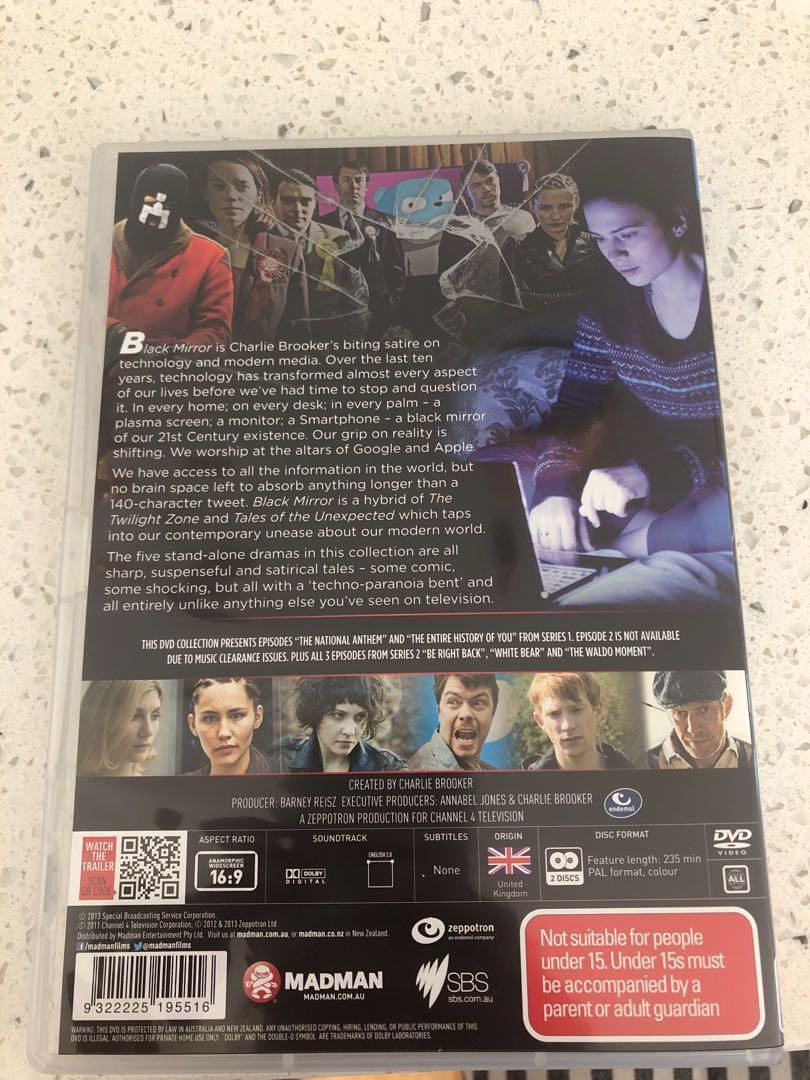 Black Mirror Season 1 DVD