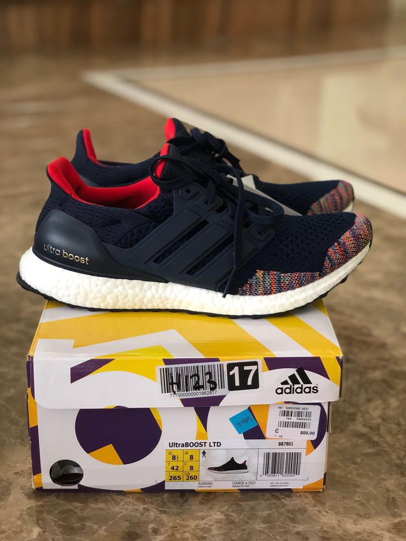 4754f006b BNIB Adidas Ultraboost 1.0 Multi Color Toe Navy US8.5