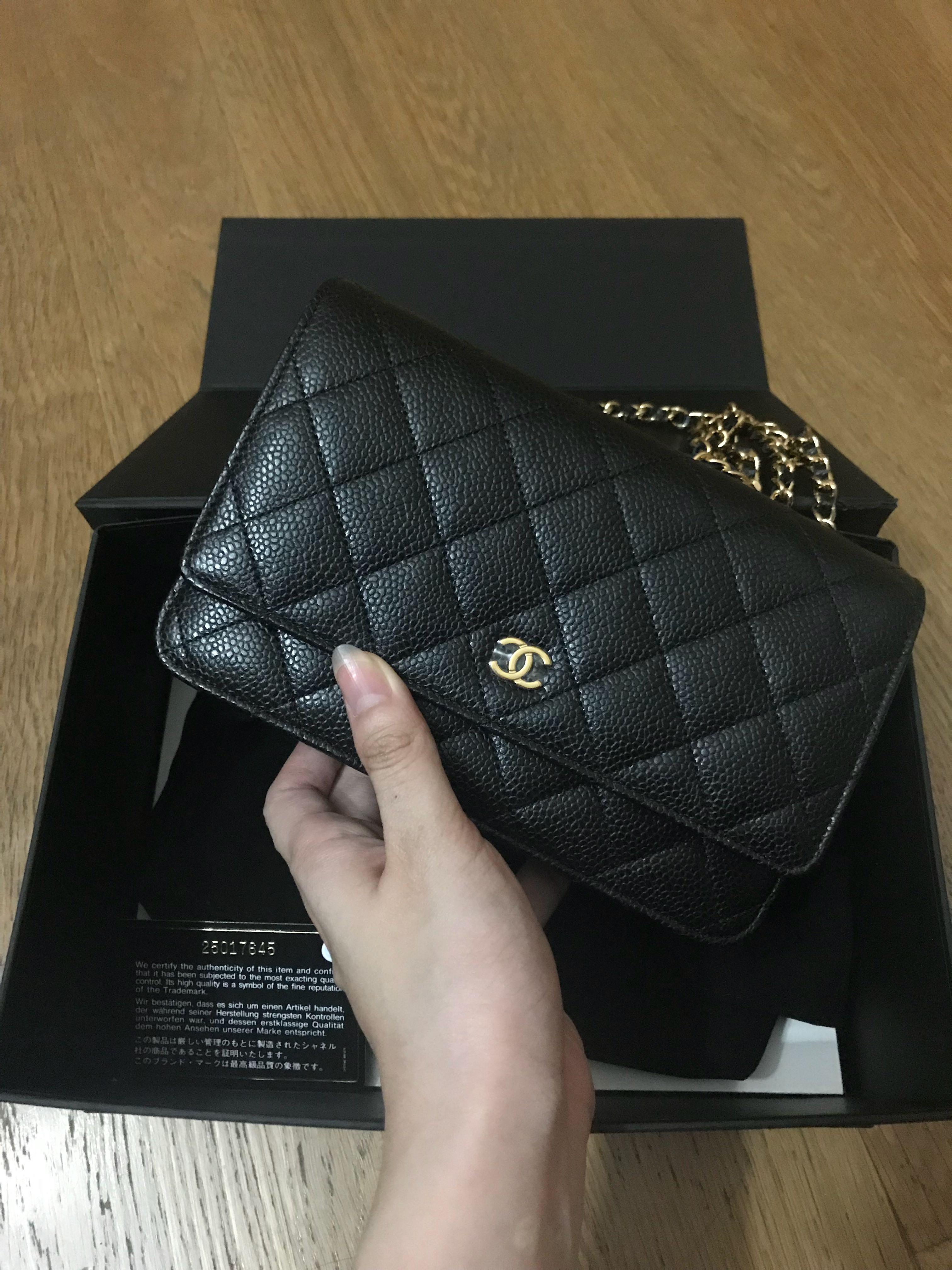 3265ea5ae7761e 💖Brand New💖Chanel Classic Woc Black Caviar Ghw #25, Luxury, Bags ...