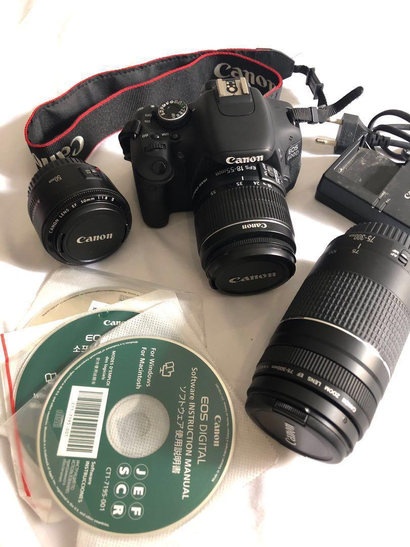 REPRICED Canon EOS 600D Complete w/ 2 Lenses on Carousell