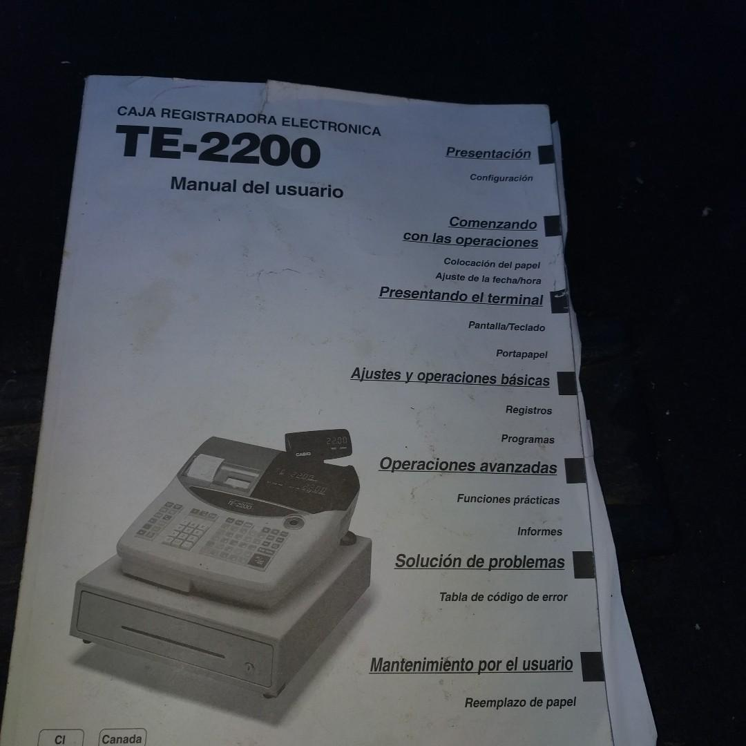 Casio Cash Register TE2200, dual Thermal Receipt Printers, used excellent working