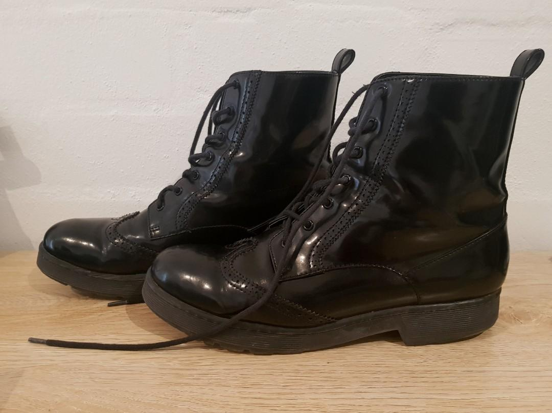 Charles and Keith Combat Boots