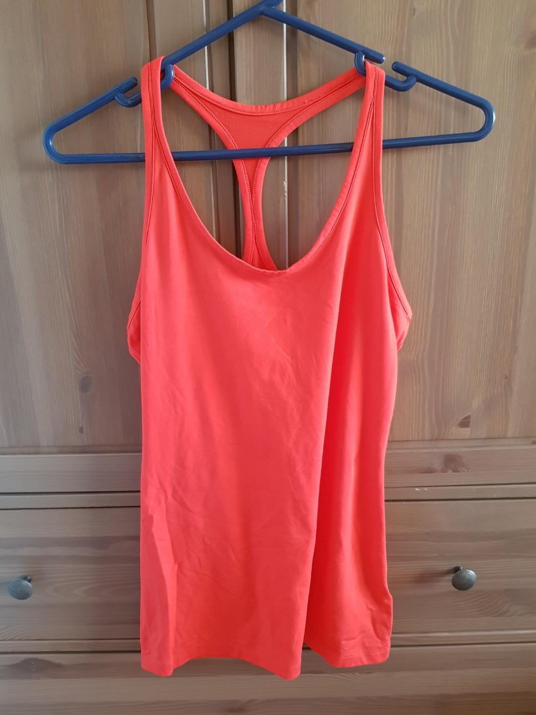 Dark Orange Red NIKE DRI-FIT Singlet Sports Top Size 10 S