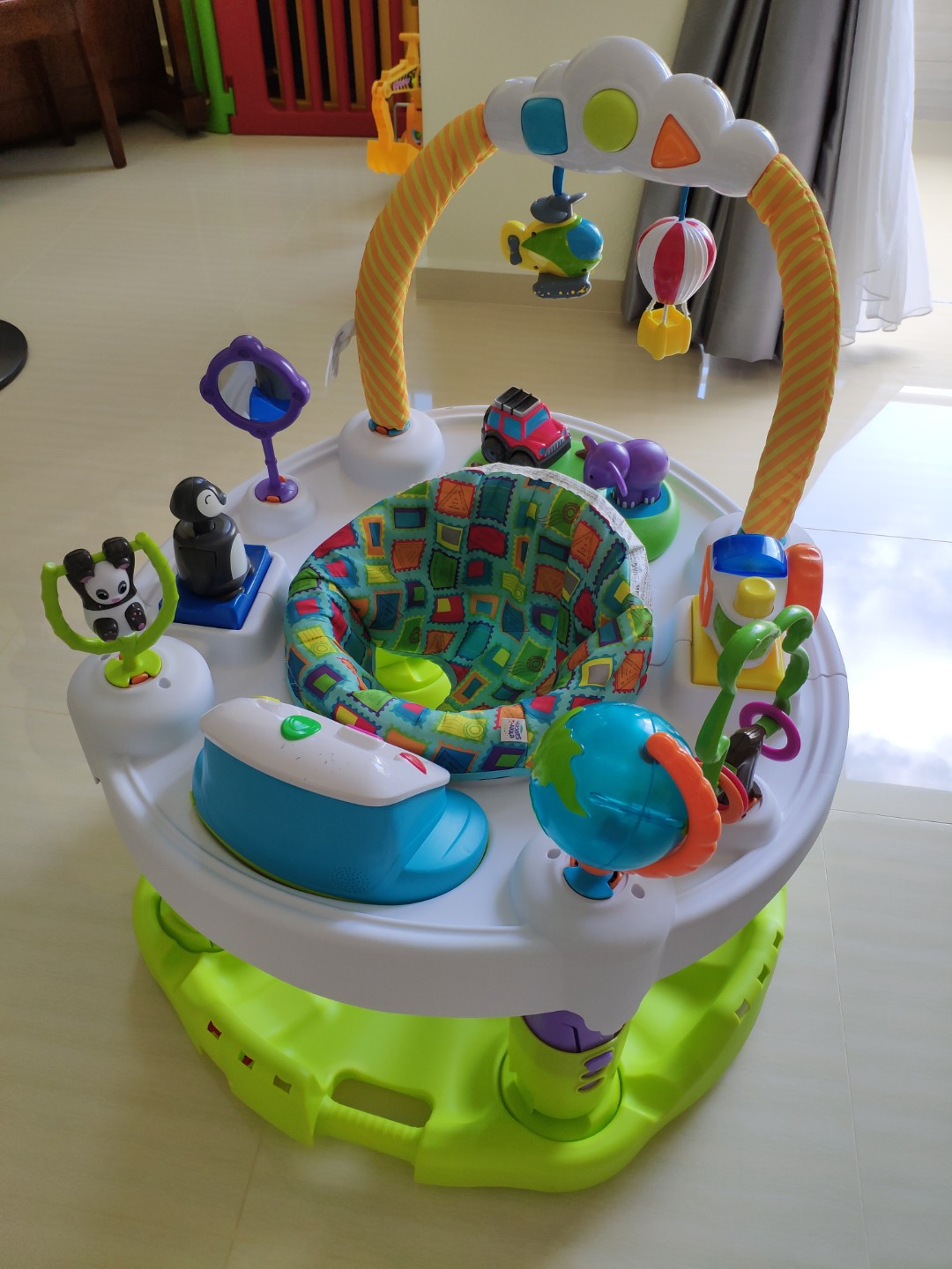 2801b9dec Evenflo Exersaucer World Explorer Triple Fun Saucer