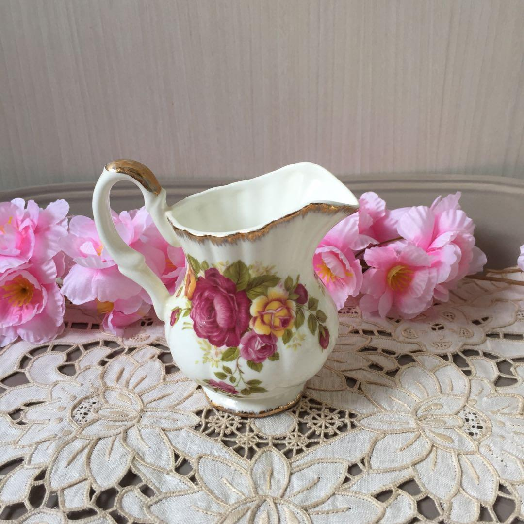 Fine Bone China Cottage Rose Milk Jug Vintage Collectibles Vintage Collectibles On Carousell