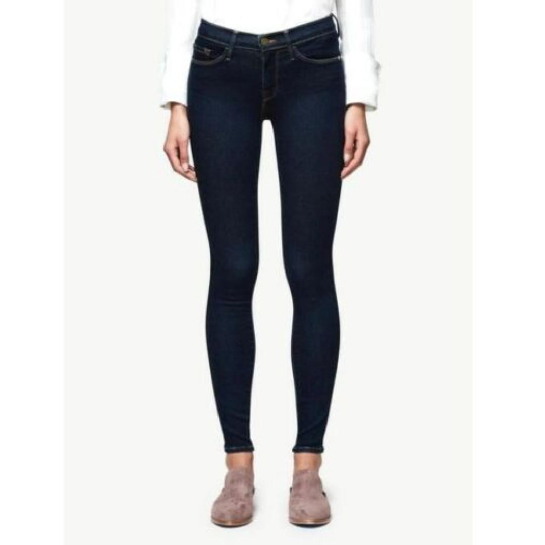 Frame Le Skinny De Jeanne Size 26 Mid-Rise Skinny Jeans