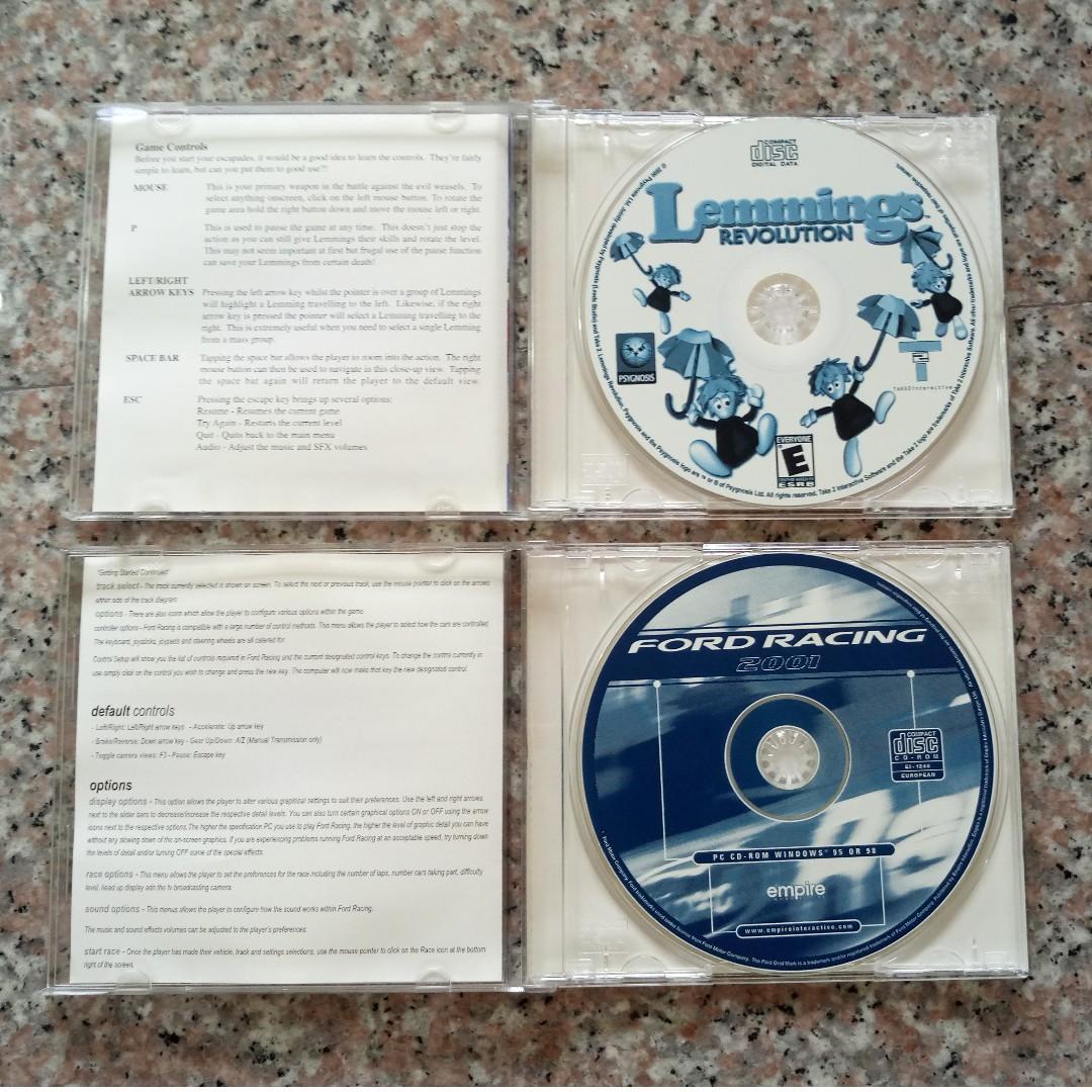⭐FREE 12 PC old games - Lemmings Revolution + Ford Racing 2001 - FOC Blessing #MRTYishun