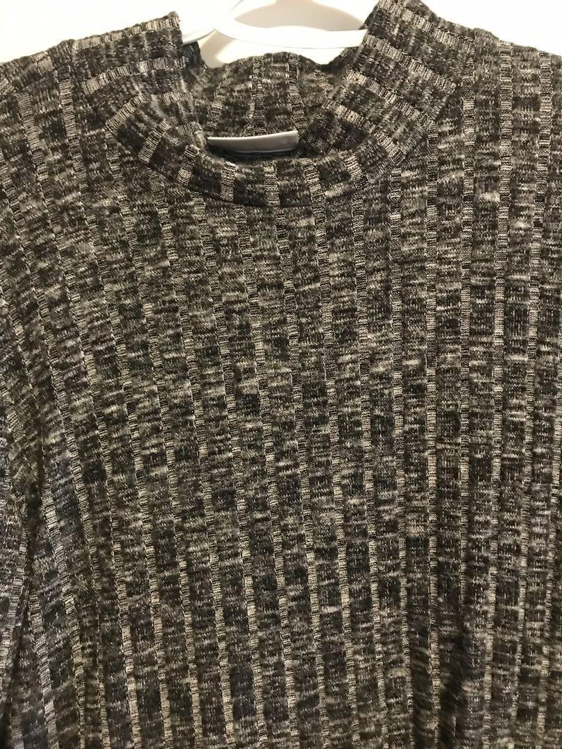 Grey Fitter Turtleneck
