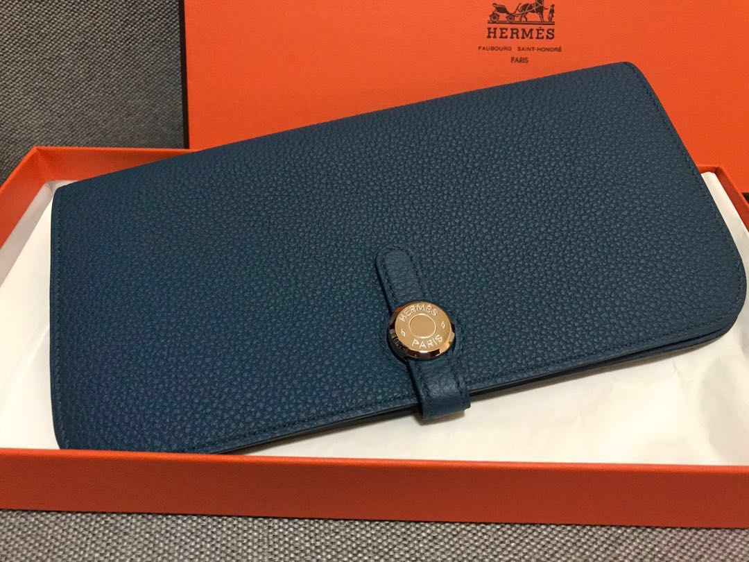 4066e69a5d9 Hermes Dogon Wallet, Luxury, Bags & Wallets, Wallets on Carousell