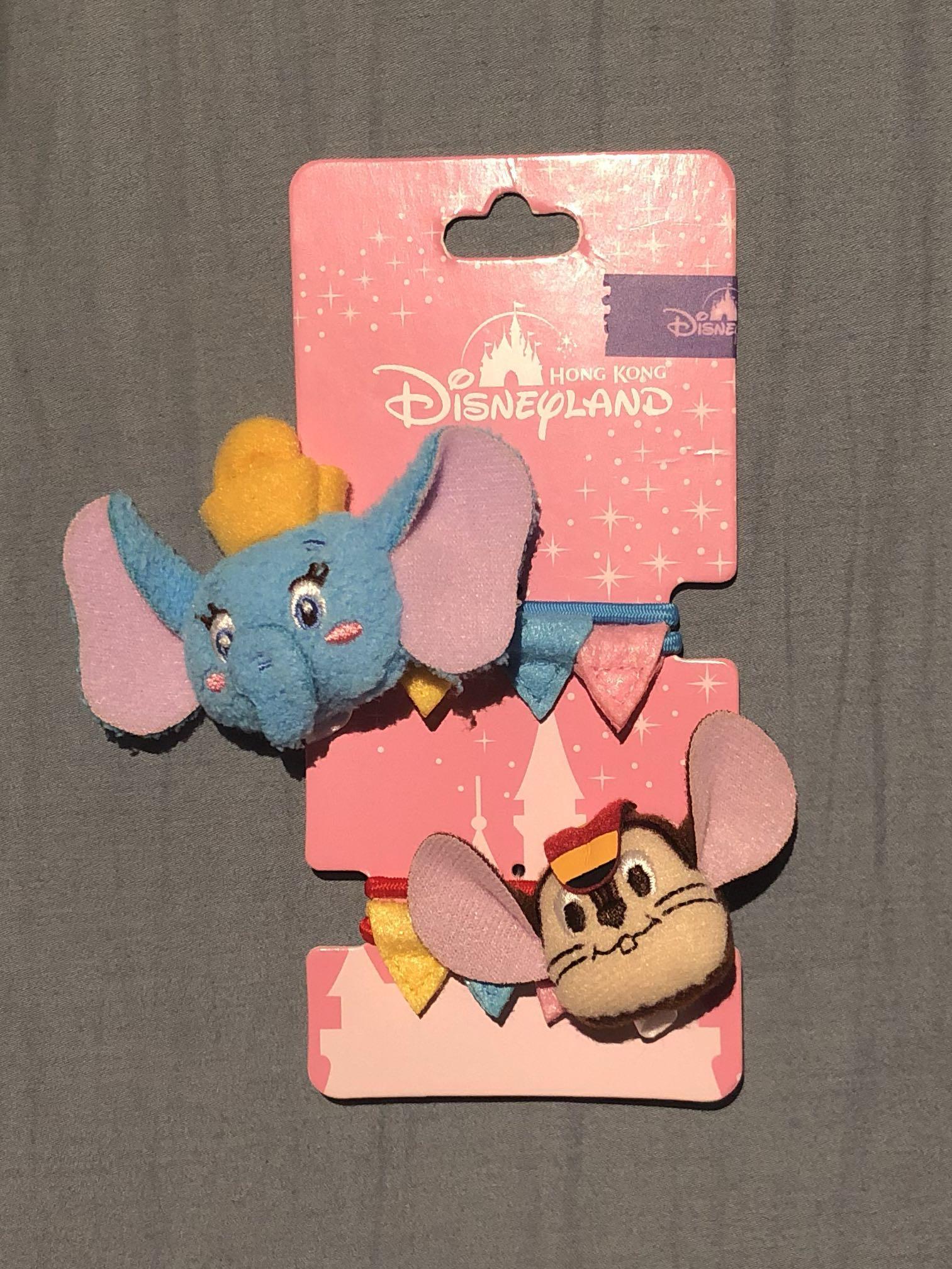 Hong Kong Disneyland Dumbo Timothy hair accessories 香港迪士尼樂園 小飛象 頭飾 髮圈 橡筋