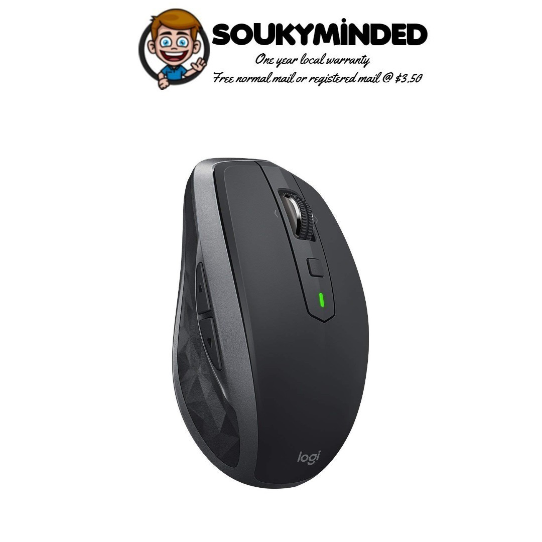 [IN-STOCK] Logitech MX Anywhere 2S Wireless Mouse – Use on Any Surface,  Hyper-Fast Scrolling, Rechargeable, Control up to 3 Apple Mac and Windows