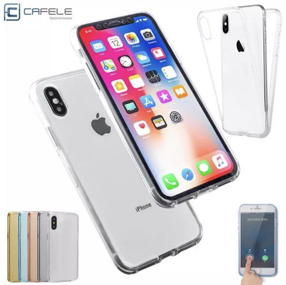 iPhone X 360 clear silicone case