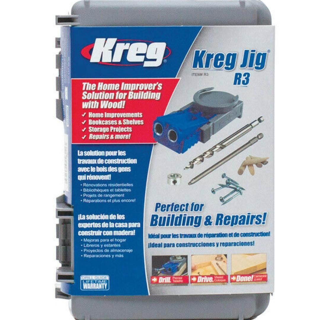 Kreg R3 Original Pocket Hole Jig Woodworking System  [27% DISC]