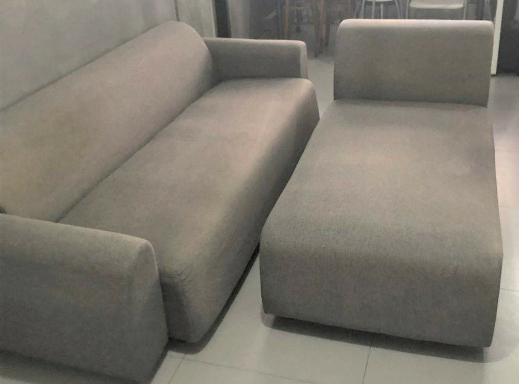 L Shape Or 3 Seater Sofa With Lounger