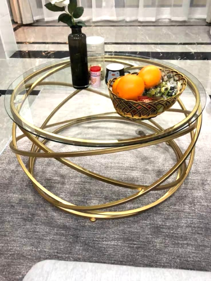 Wire Frame Coffee Table.Leia Gold Wireframe Coffee Table