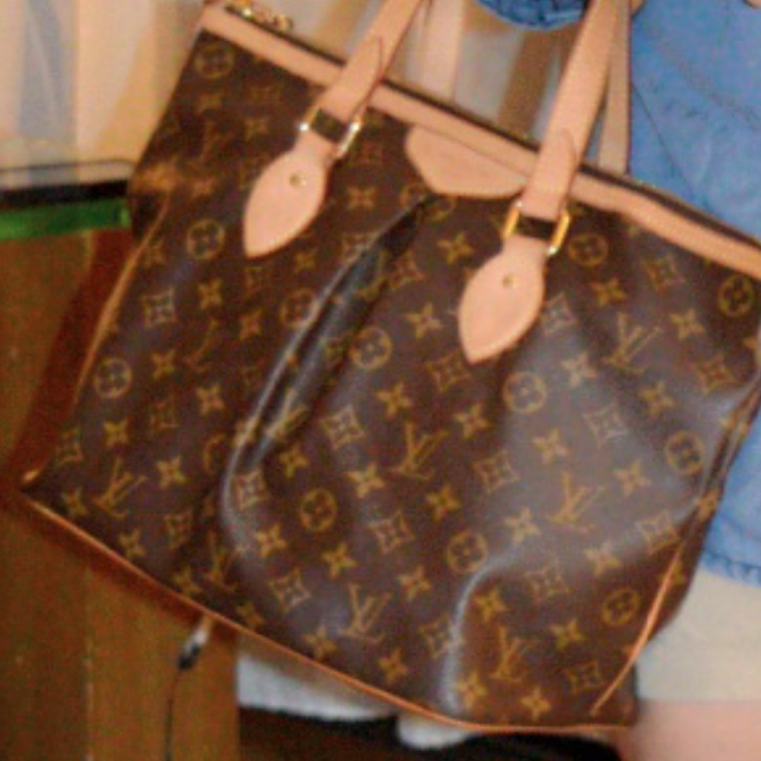 100% AUTHENTIC LOUIS VUITTON Monogram Canvas Palermo PM Brown Shoulder Bag 46953d3952c38