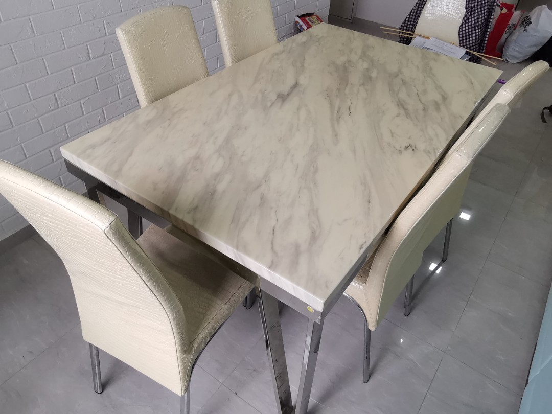 Marble top Dining Table for sales used