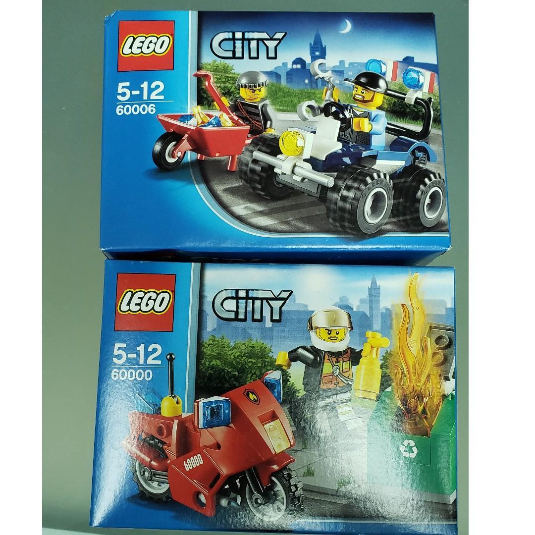 MISB 全新 Lego 60000 60006 City 城市 系列 Fire Motorcycle and Police ATV (98%靚盒)