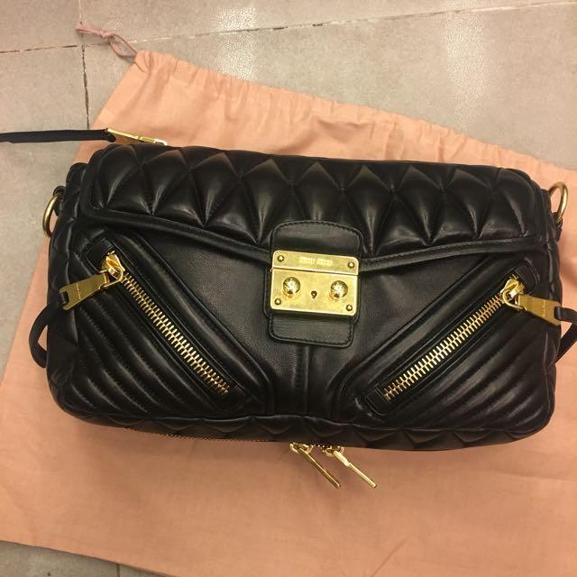 15cf484f21707 Miu Miu Nappa Biker Bag (brand new)
