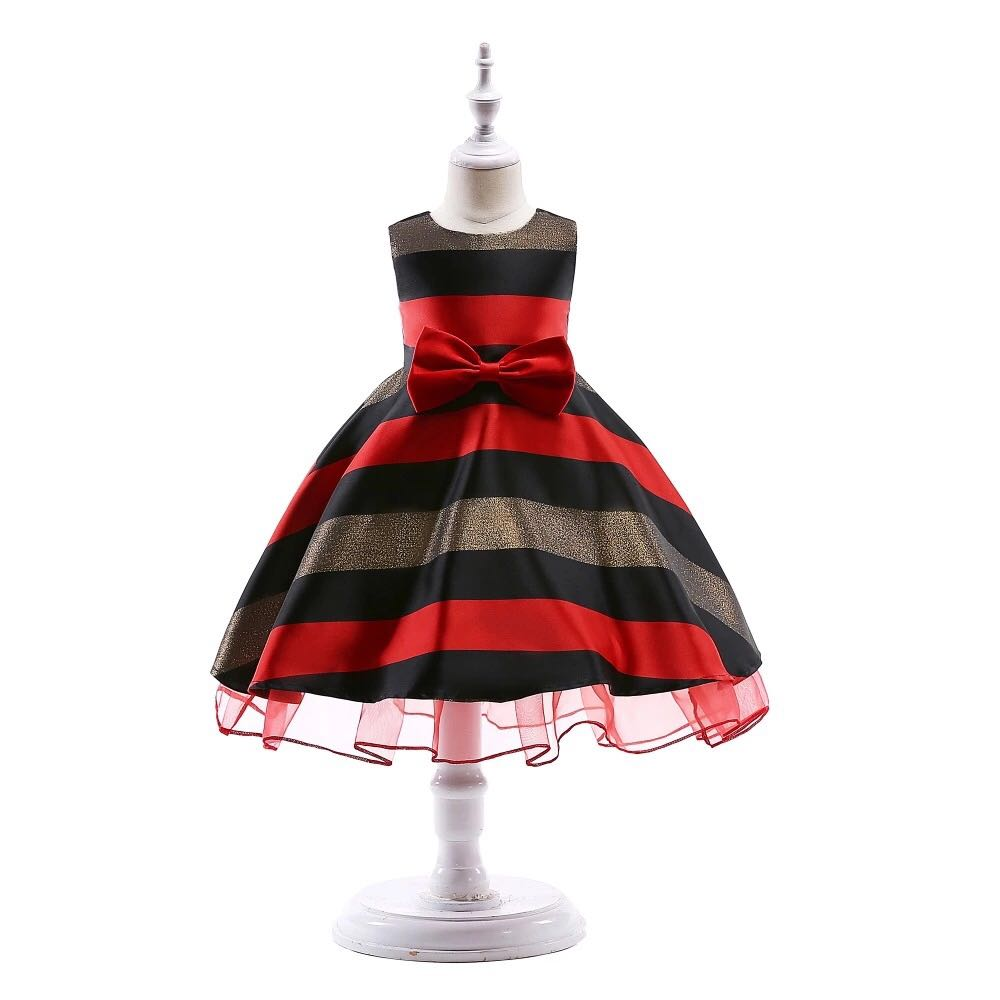 f939fc529 Modern Stripped Ruffled Party Dress for Baby Girls Age 2 to 3 Years ...