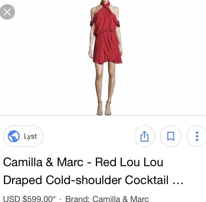 NEW with Tags - Camilla and Marc Lou Lou Cold Shoulder Dress