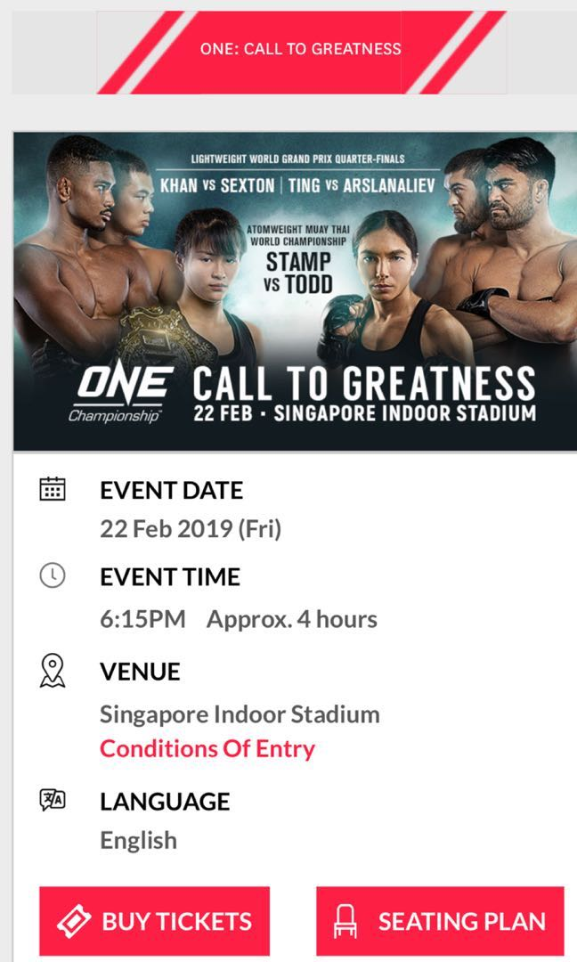 List of ONE Championship events