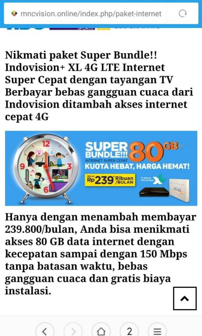 Pasang tv kabel indovision,okevision,top tv, Services