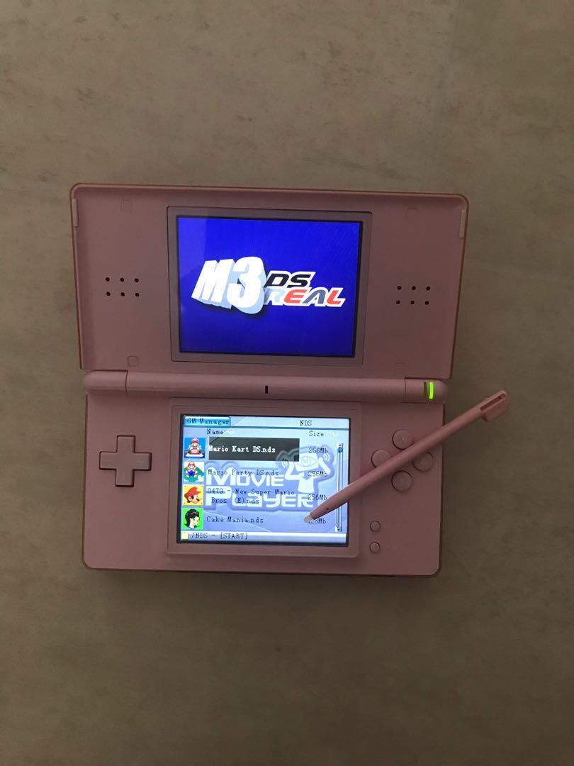 Pink Nintendo DS Lite & Multiple Accessories