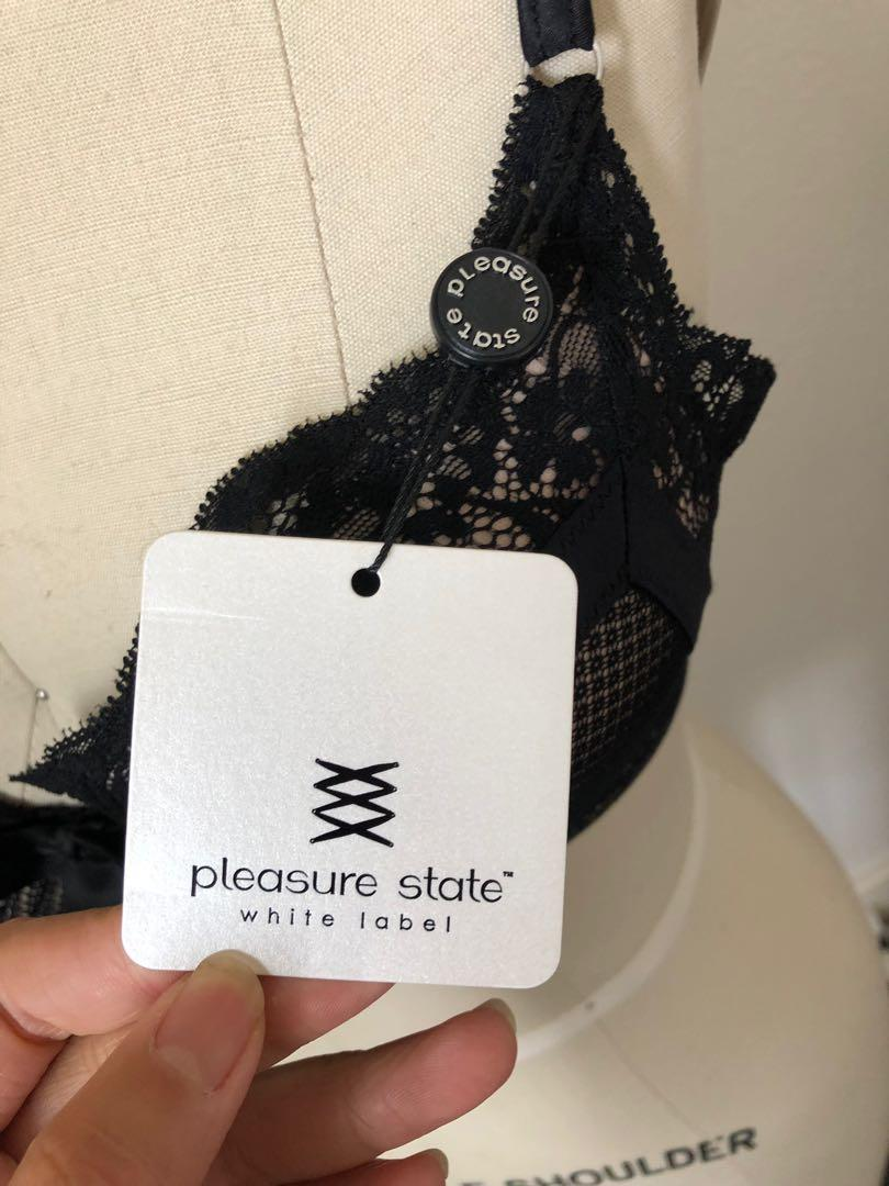 Pleasure State Black Contour Bra 10D Brand New with Tags