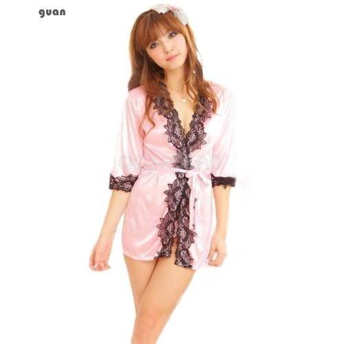 64065684a838 Women Lingerie Sleepwear Silk Satin Lace