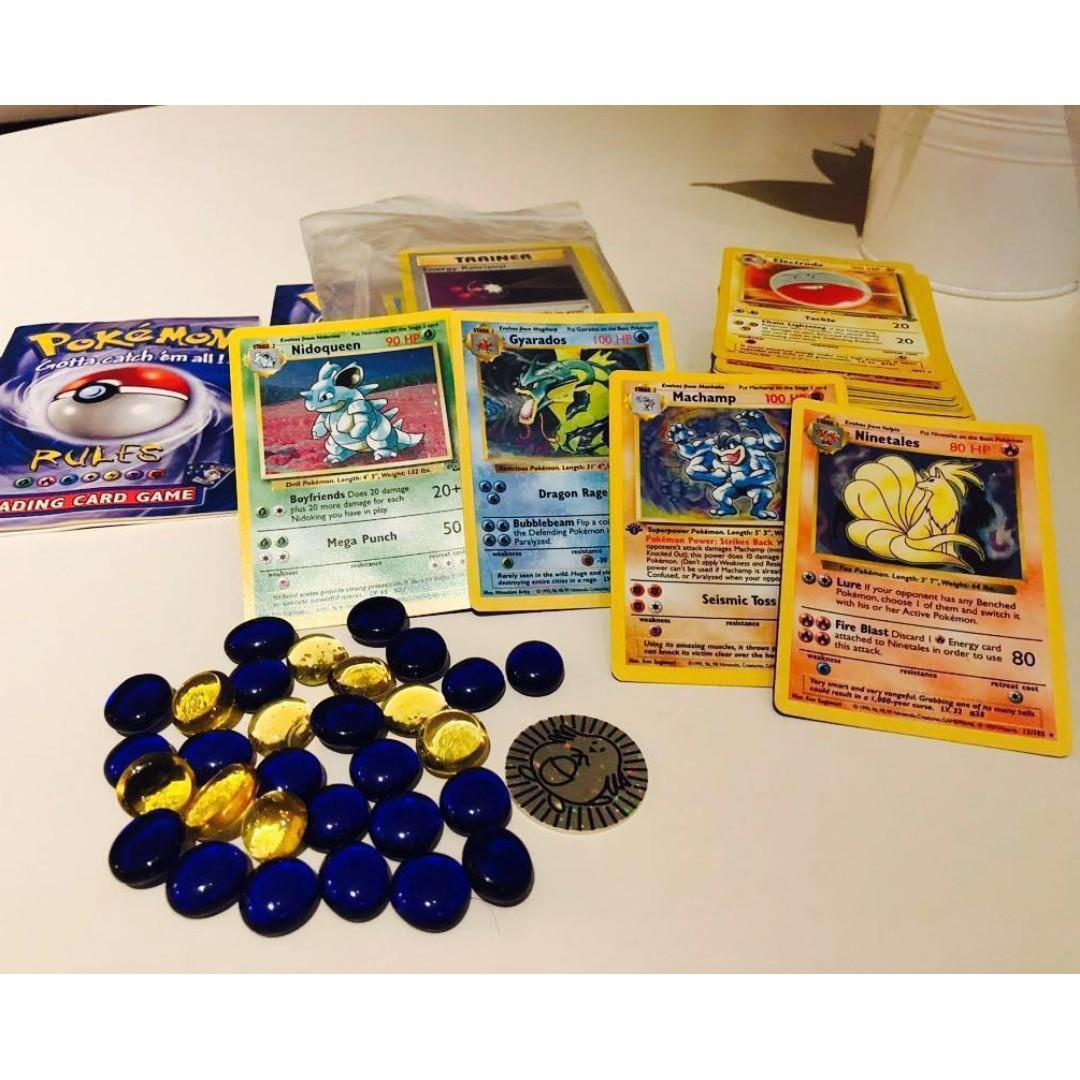 Pokémon Tcg With Rare Shadowless Out Of Print 1st Ed On