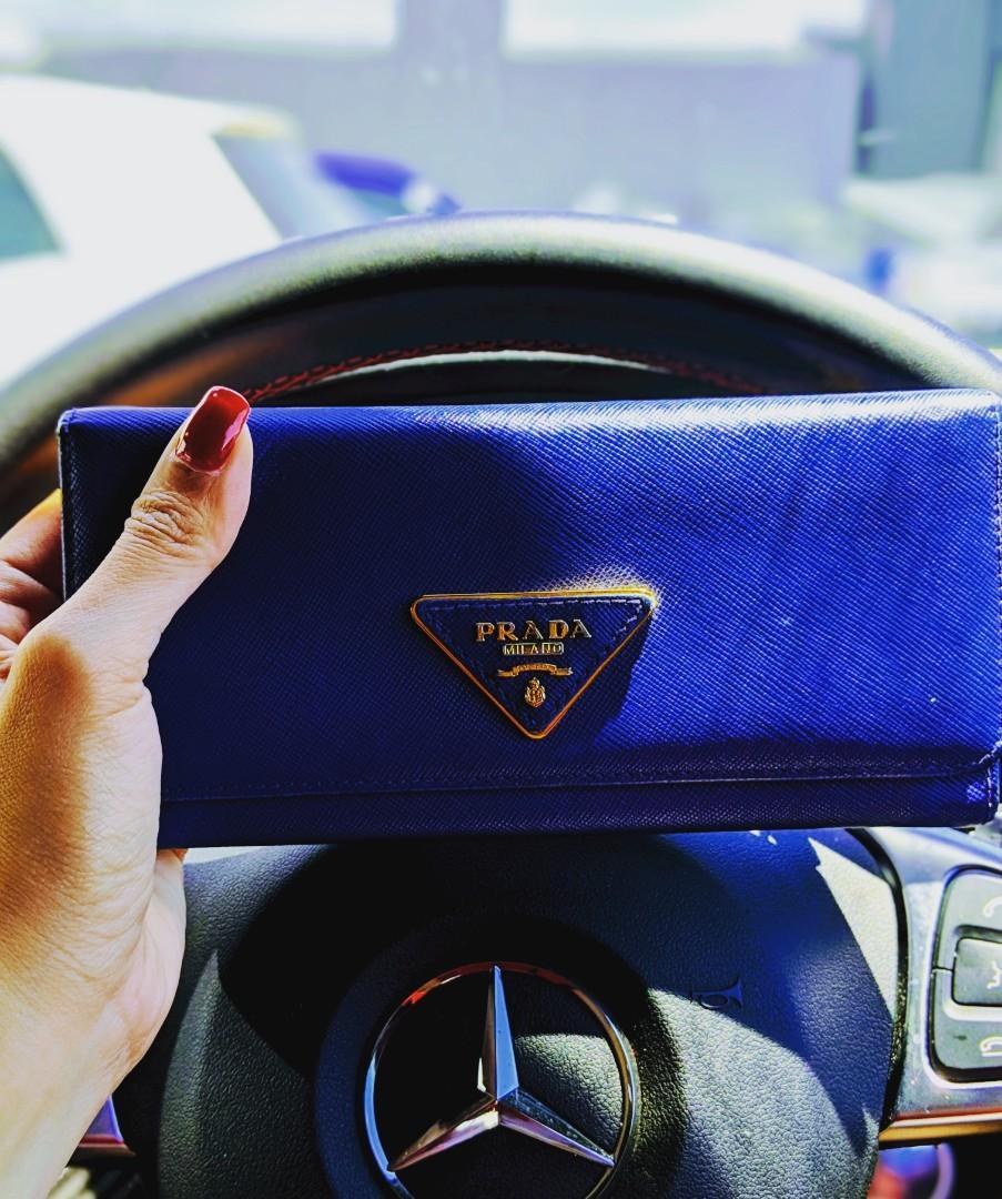 Prada blue wallet price reduced to $150!!!