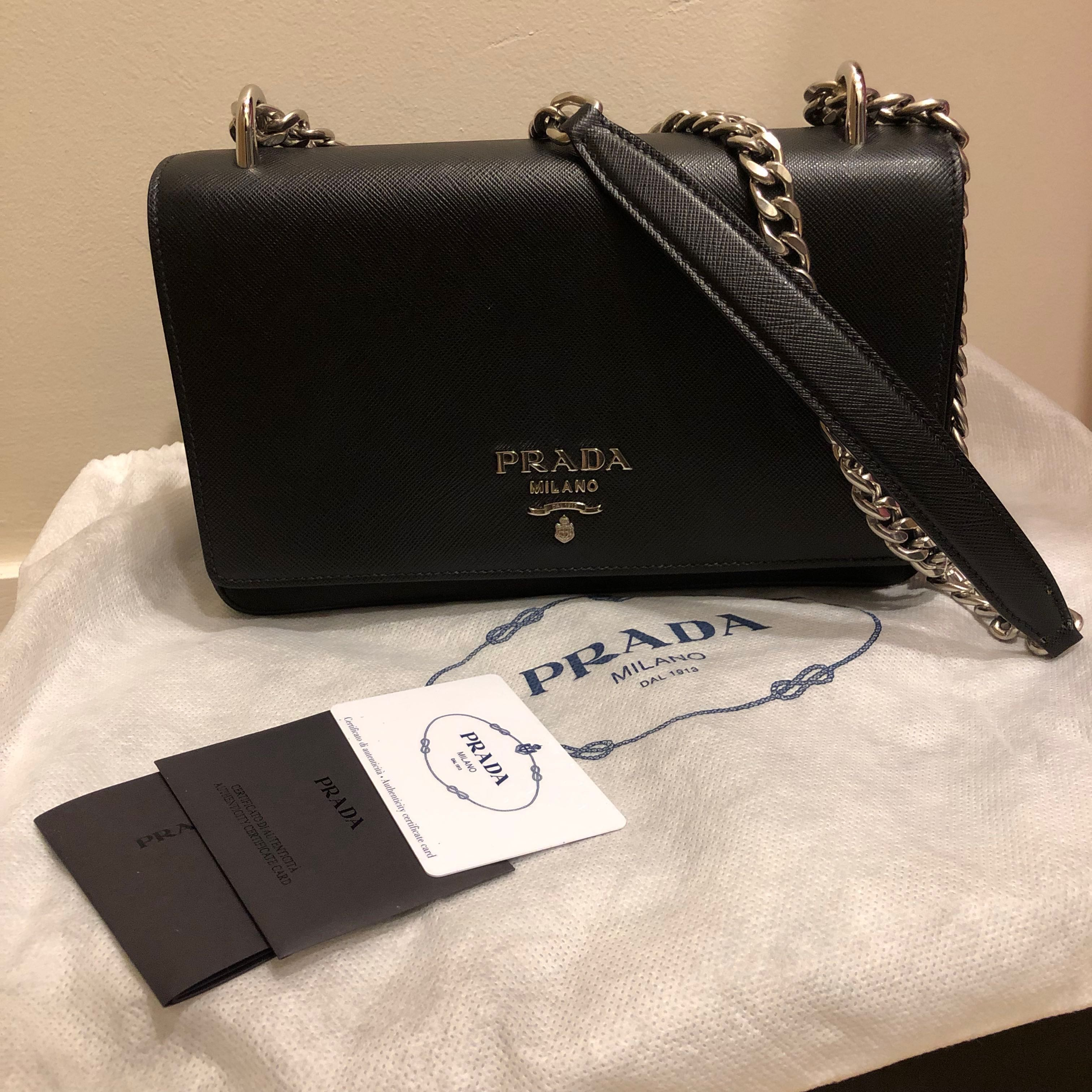 2abbb2d1997a45 Prada Shoulder bag, Luxury, Bags & Wallets, Sling Bags on Carousell