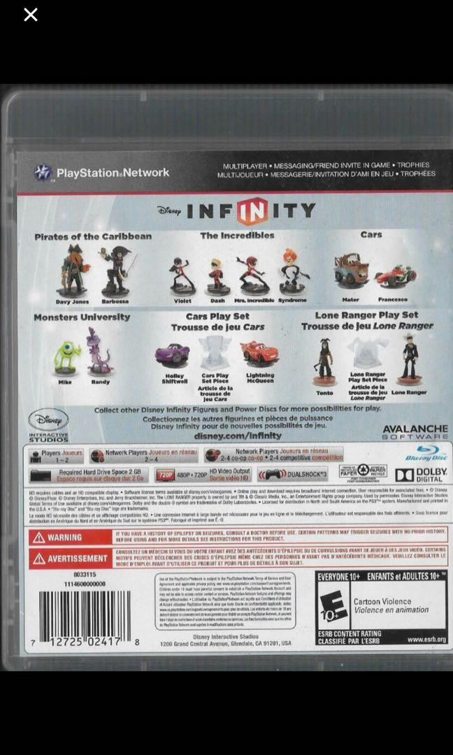 PS3 games game Disney infinity