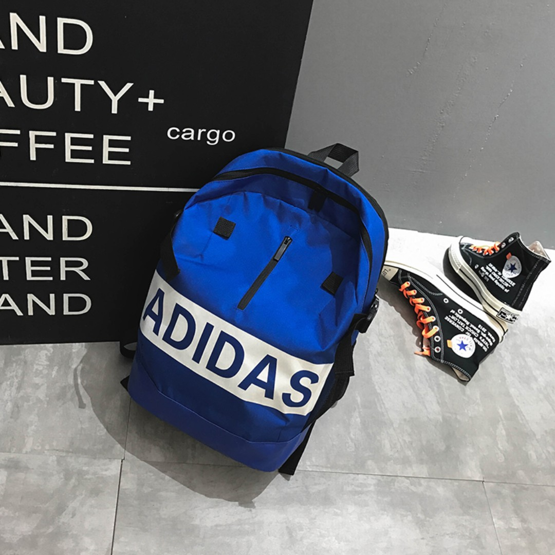 Sales Weekend  Adidas bag Big Name - blue Great Deal! a28c587063250