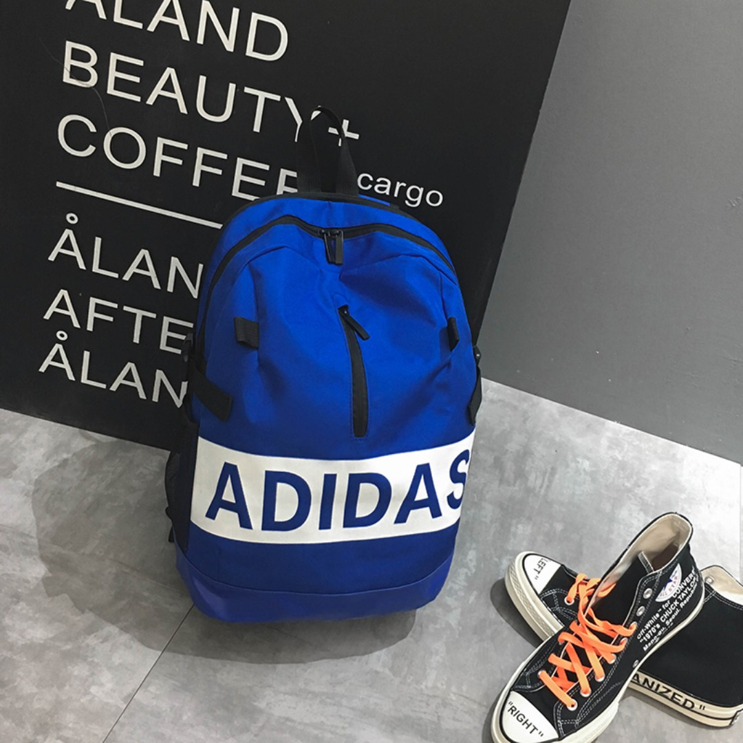 Sales Weekend  Adidas bag Big Name - blue Great Deal! 30a6867a86a84
