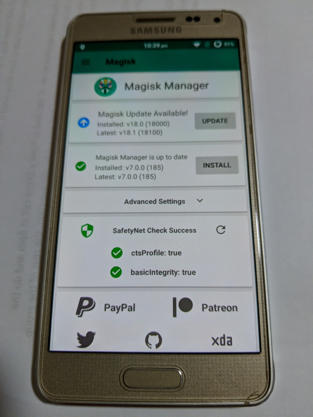 Samsung Galaxy Alpha Rooted and ROM(RESERVED)